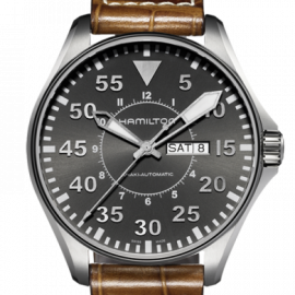 H64715885 KHAKI AVIATION PILOT AUTO Hamilton
