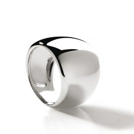 Bague large or blanc