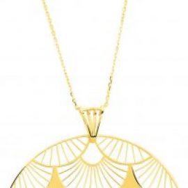 collier et pendentif or jaune