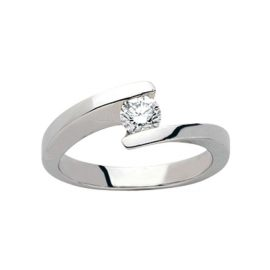 Solitaire or blanc 0,30 ct