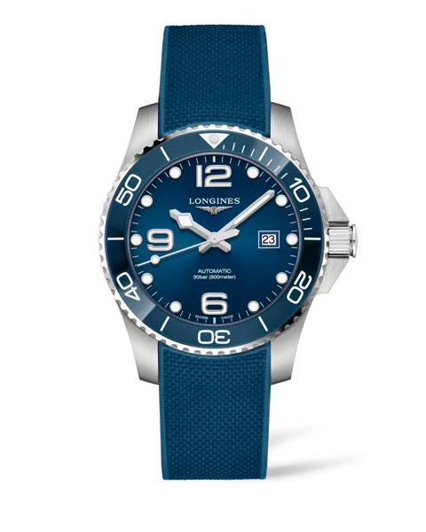 L3.782.4.96.9 LONGINES Hydroconquest lunette céramique bleu