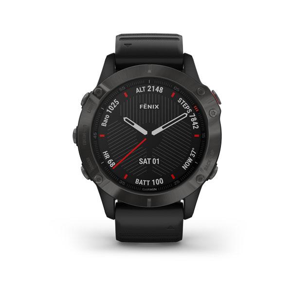 fēnix 6 Sapphire carbon gray DLC avec bracelet noir