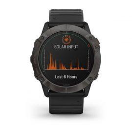 fēnix 6X - Pro Solar Pro Solar, titane et carbon