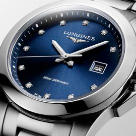 L3.377.4.97.6 Conquest Lady Longines index diamants
