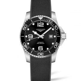 L3.781.4.56.9 LONGINES Hydro Conquest Céramic bracelet caoutchouc